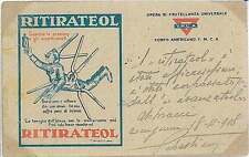 Italia Regno - FRANCHIGIA MILITARE : RITIRATEOL medicina 1918