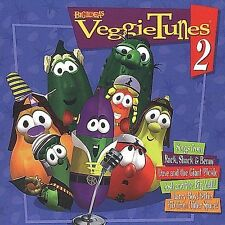 VEGGIE TUNES 2 Tales CD 1998 Rack Shack Benny Giant Pickle Larry Boy Josh Dave
