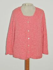 Sigrid Olsen Sport Coral Heather Twin Set Cotton Blend LG