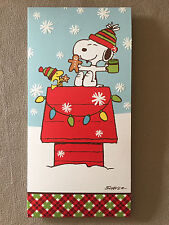 "Peanuts ""Snoopy & Woodstock"" Christmas Card And Red Envelope, 7"" X 3 1/2"", NEW!"