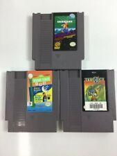 Hydlide sesame street pinball Nintendo Entertainment System Cleaned NES game lot
