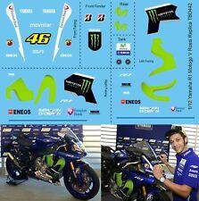 1/12 Decals X Yamaha R1 M Replica Valentino Rossi ( X Tamiya KIT )Decal TBD442