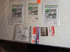 Lot Of 3Eduard Photo Etched  Zimmerit Sets For German Tank Model Kits w EXTRAS!