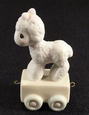 Precious Moments Figurine Birthday Train 1985 159346 Age One Little Lamb Box Vtg