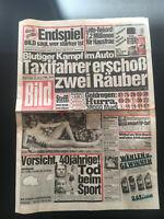 BILD ZEITUNG vom 22. April 1986 Geschenk 35. Geburtstag Steffi Graf LOTTO REKORD