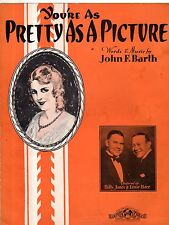 1931 You're as Pretty as a Picture by John F Barth shows Bill Jones & Ernie Hare