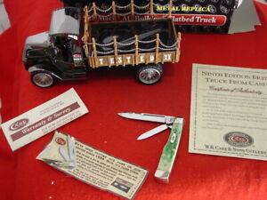 CASE XX USA bone 6215 Gunstock knife & Die Cast 1918 MAC AC Bulldog Truck MINT