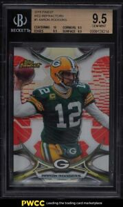 2015 Finest Red Refractor Aaron Rodgers /99 #1 BGS 9.5 GEM MINT