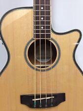 3/4 Size Acoustic Bass Guitar,HazeFB-711BCEQ/N 4-String,EQ,Natural+Free Gig Bag