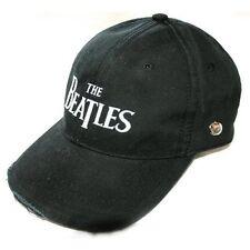 Beatles Baseball Cap Hat Drop T Logo (Black) Clothing Gift Official Merchandise