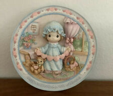 "1995 Precious Moments 3-D Plate ""You Have Touched So Many Hearts"" Cib"