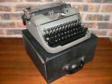 Vintage 1930's Underwood Champion Manual Portable Typewriter w/Case~OK Condition