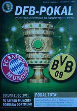 Programm DFB Pokal Finale 2016 Bayern München - Borussia Dortmund