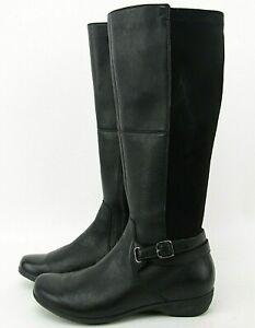 Dansko Francesca Knee High Boot Black 162203 Womens Size 37 EURO/ 7 US