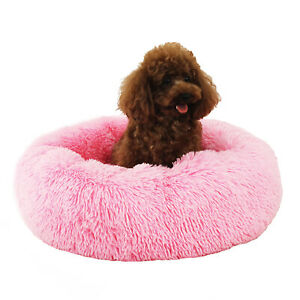 Round Cat Beds House Soft Long Plush Pet Dog Bed For Dogs Basket Pet Cushion
