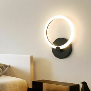 Aluminum LED Wall Mount Light Fixture Round/Square Foyer Hotel Porch Indoor Lamp