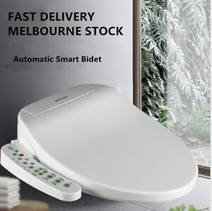 Automatic Electric Toilet Bidet Seat Cover Auto Wash Warm Air Dry Light and more