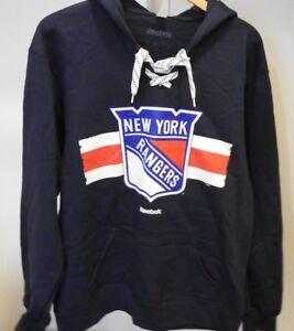 NHL New York Rangers #27 Lace-Up Sweatshirt Hockey Jersey New Mens X-LARGE