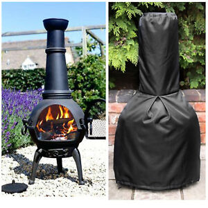 Outdoor Heavy Duty Black Large Chiminea Cover Waterproof  122*61*21cm CA SELLER