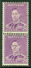 Edw1949Sell : Australia 1942 Stanley Gibbons #185a Coil pair. Vf, Used. Cat £75.
