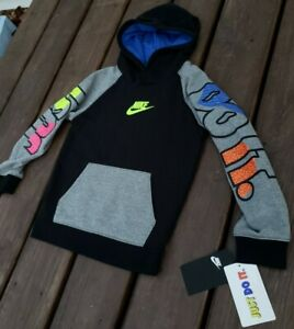 NEW Boys Nike Air Neon Fleece Pullover Hoodie SIZE 6 Kids Toddler 4 5 Sweatshirt