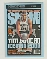 2020-21 Panini NBA Hoops SLAM MAGAZINE #8 TIM DUNCAN San Antonio Spurs HOF