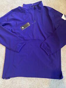 Mens Size Medium Adidas 1/4 Zip Pullover Purple DZ0383