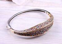 Turkish Handmade Jewelry 925 Sterling Silver Ladies Womans Multi Stone Bracelet
