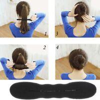 Lady's Hair Sponge Twister Roller Curler Styling Braid Holder Clip Large Bun