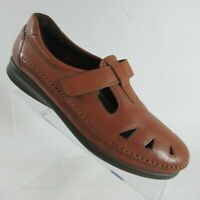 SAS Roamer Mary Jane Loafers Brown Leather Comfort Shoes Womens Size 10 N Narrow