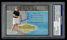 Annika Sorenstam signed autograph 2004 Upper Deck Golf Trading Card PSA Slabbed