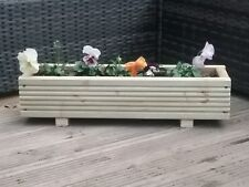 Wooden Decking Planter/Window Box/Trough/Garden/Herb/Flower