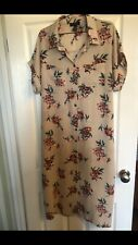 Ladies Floral Midi Dress New Look Size 16