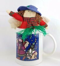 Sue Dreamer Angel Coffee Mug and Stuffed Doll Ornament paper weight Gift Set