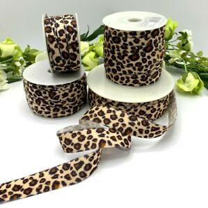 Leopard print velvet ribbon choker wedding thin wide gift bow animal print soft