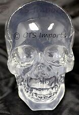 New Clear Solid Translucent Skull Figurine Halloween Decor