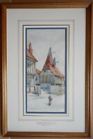 Oasthouse, Suffolk. Watercolour by listed artist William Henry Milnes dated 1894