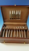 New Set of Arne Jacobsen  Matte Stainless Steel  by Georg Jensen Service for 6