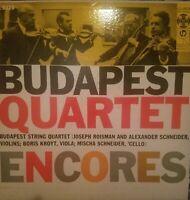 Budapest Quartet Encores LP Columbia 6 Eye White Label Promo ML 5116 Mono
