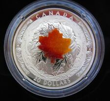 1 oz. Silver – Majestic Maple Leaves With Drusy Stone – Extra Low Mintage: 4,000