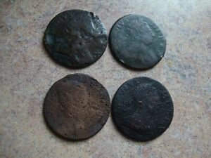 Non-Real Halfpenny Lot, George II & George III dated in 1700's