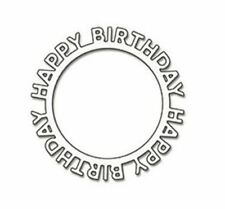 Happy Birthday circle metal die - for use in most cutting systems!