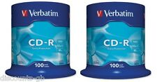 VERBATIM 43411 CD-R Registrabile Dischi 52X 80 min 700 MB 200 Pack Spindle 100 + 100