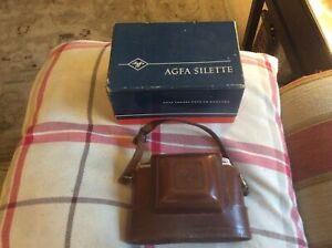Agfa  Silette Prontor SVS Vintage Camera with case and box untested
