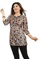 Women Indian Kurti Printed Designer Ethnic Kurta Shirt Dress SC2502 BLUE