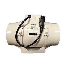 Aspiratore Ttrv Bi-potenza cablato Estrattore aria Vents Growbox Indoor Serra 100mm - 145-187m3/h