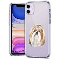Thin Gel Protective Phone Case,Apple iPhone 11,XS,XR,8,Dog Watercolor 1 Print