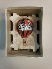 Danbury Mint New England Patriots 2003 Christmas Ornament Santa Hot Air Balloon