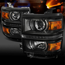 14-16 Chevy Silverado 1500 Black Projector Headlights with LED