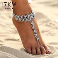 Women Ankle Bracelet Bohemian Beach Sandal Flower Anklet Chain Foot Jewelry